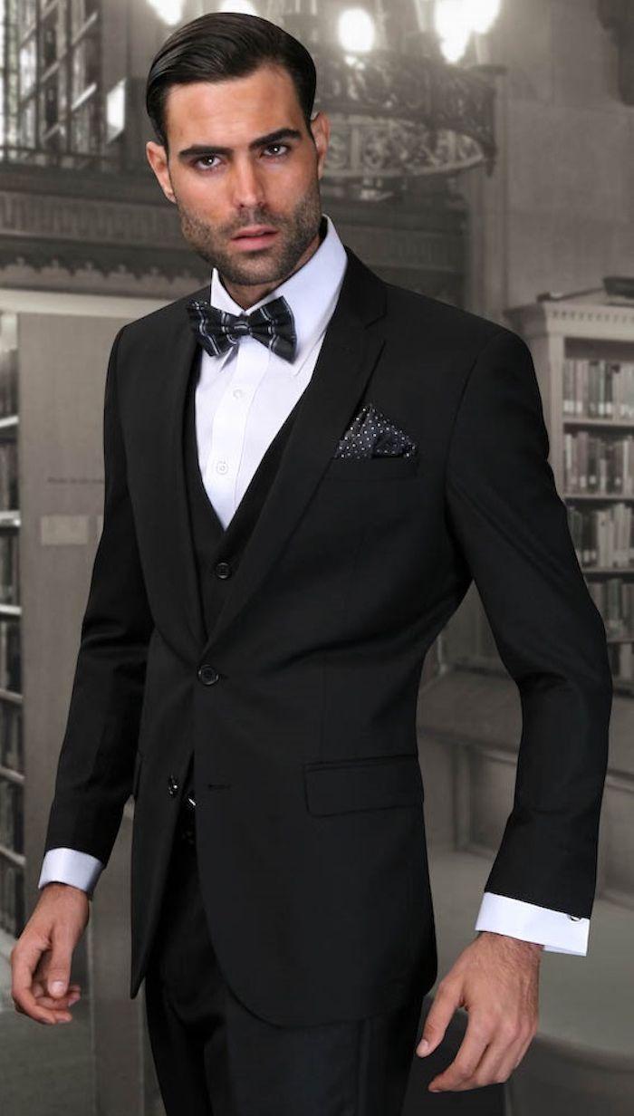 costume hugo boss noir homme costard slim