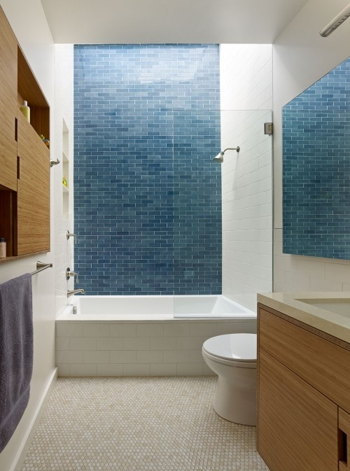 From Boor Bridges Architecture in San Francisco. I see a wall of tile like this…