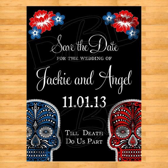 Dia De Los Muertos Day Of The Dead Wedding By DigitalBunnysDesigns, $18.00