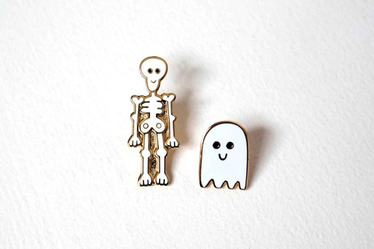 Pins Skeleton and Ghost Pins - way too cute to be spooky!