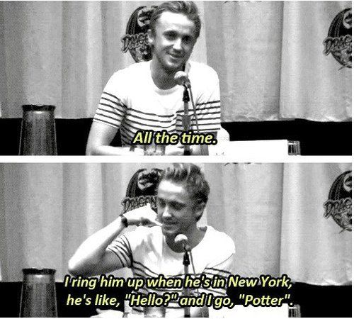 aaahhh Tom Felton I love you!