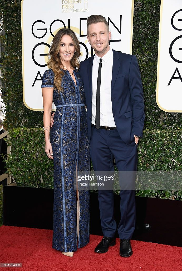 Genevieve Tedder and musician Ryan Tedder attend the 74th Annual Golden Globe Awards at The Beverly Hilton Hotel on January 8, 2017 in Beverly Hills, California.