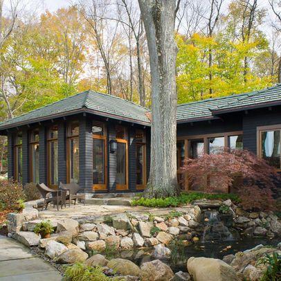 dark gray house exterior | Dark Exterior Design Ideas, Pictures, Remodel, and Decor