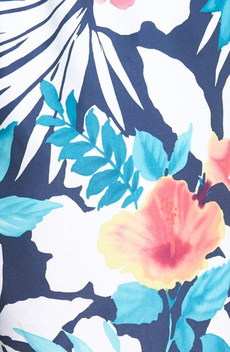 'Naples - Bastille Blooms' Floral Print Swim Trunks (Big & Tall)