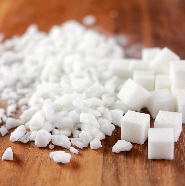 Crush sugar cubes to make pearl sugar for liege waffles