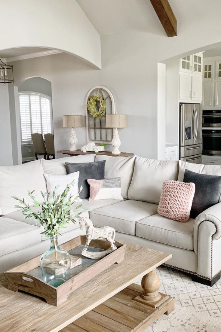 Living Room Inspiration Ideas For A Sectional Couch Farm House