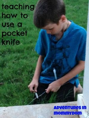 teaching how to use a pocket knife, teaching responsibility