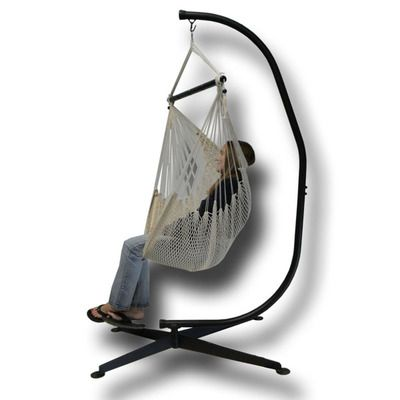 Rope Hammock Chair with Stand. Price $119.99 Plus Shipping