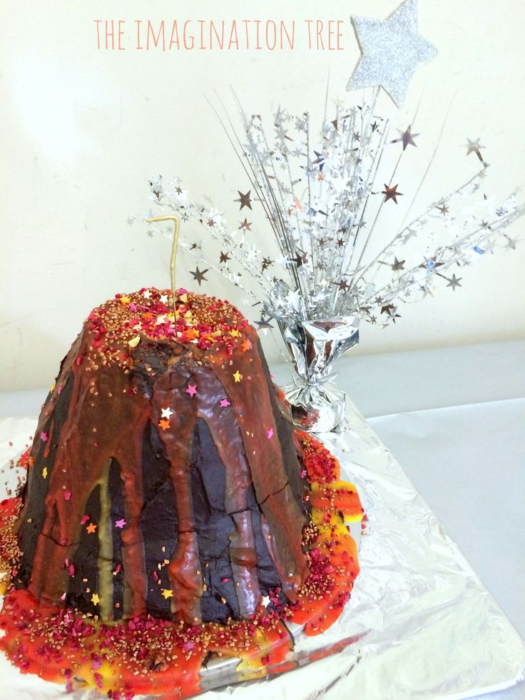 Volcano Surprise Cake (from The Imagination Tree)