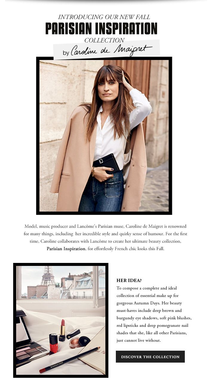 INTRODUCING OUR NEW FALL PARISIAN INSPIRATION COLLECTION - DISCOVER THE COLLECTION