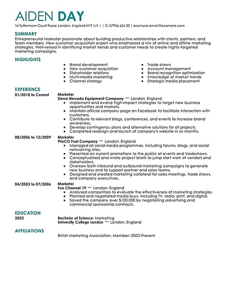 best 25  marketing resume ideas on pinterest