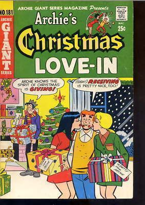 Archie Comic's Giant Issue #181 Archie's Christmas Love-In from Christmas 1970