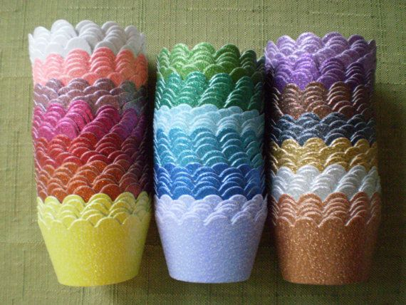Sparkle Cupcake Wrappers Choose your by KatherinePaigeDesign, $5.25