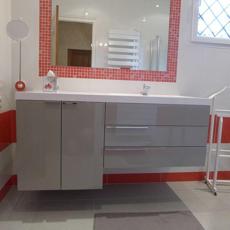 9 best Salle de Bain images on Pinterest Bathroom and Red bathrooms - salle de bain rouge et beige