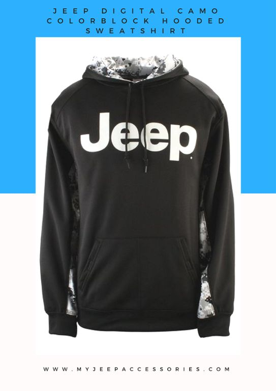 It's still a little chilly out there. What better way to warm up than a Jeep hoodie?
