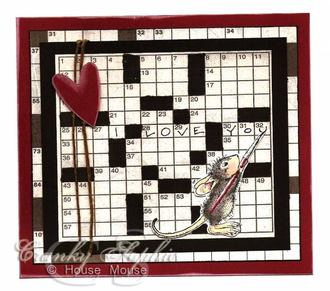Mouse Crossword by SophieLaFontaine - Cards and Paper Crafts at Splitcoaststampers
