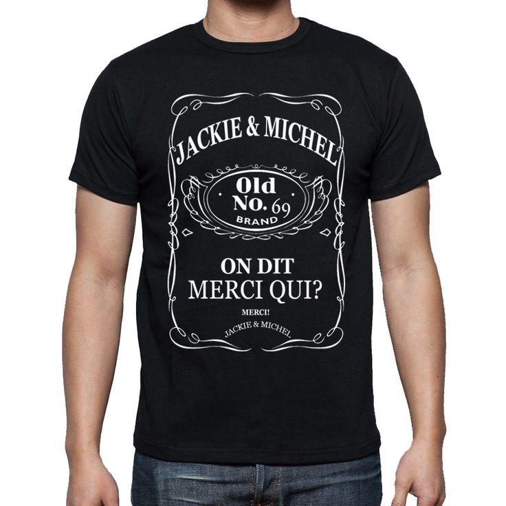 T-shirt . On dit merci qui? Merci Jackie et Michel jack. : T-Shirt, debardeurs par gazol-tee-shirt