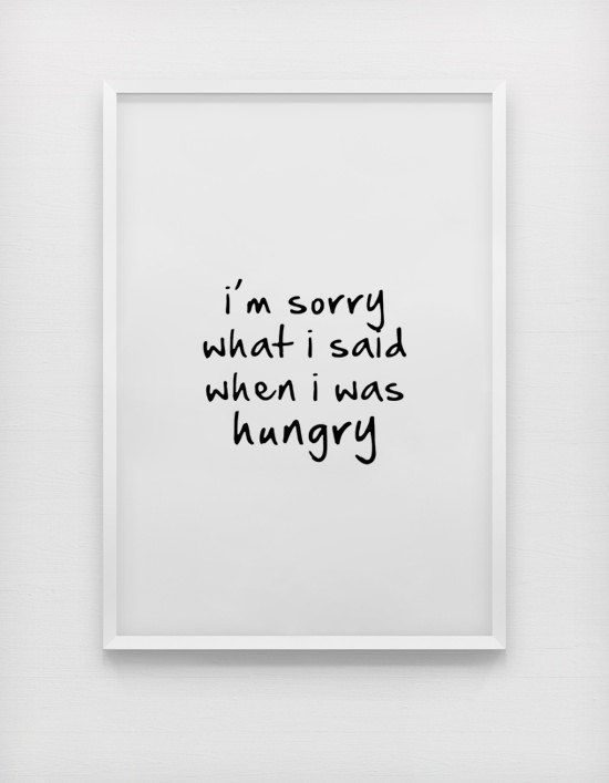 I'm sorry what i said when i was hungry quote by sinansaydik