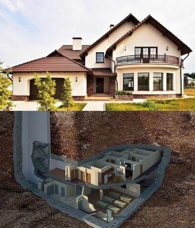Pin By Dawood Totah On Air Bnbunker In 2020 Underground House Plans Underground Homes Luxury House Designs
