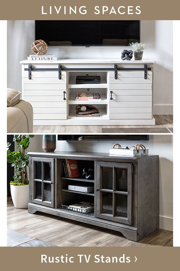 TV stands and entertainment centers in rustic styles.Claire Summers