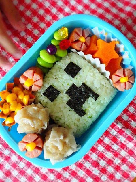 キャラ弁*マインクラフト クリーパー弁当 by cake*mama
