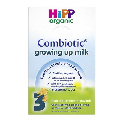 HIPP (UK) Organic BIO COMBIOTIC Stage 3 Children from the 12th month onwards still have unique nutritional needs, and milk is particularly important for helping to meet their calcium requirements. In cows' milk, however, the amount of iron, omega 3, vitamin D and essential vitamins is tiny. HiPP Organic Combiotic growing up milk contains all of these nutrients essential for growth and development in the right quantities for your child. Certified organic.  #breastmilk #babycare #babyfood…