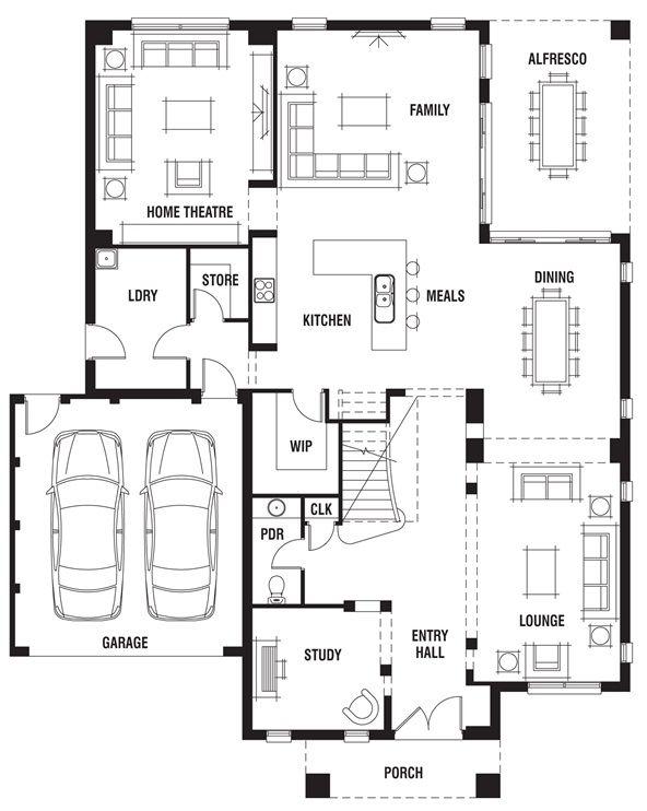 173 best images about decor house plans on pinterest for Porter davis home designs