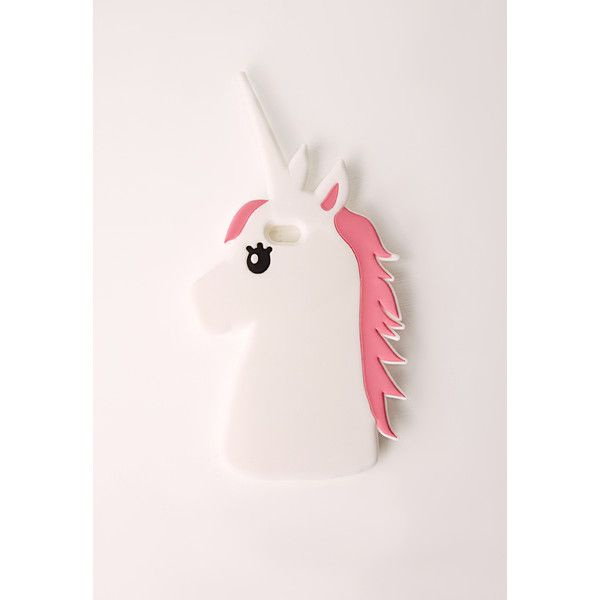 Missguided Unicorn Phone Case iPhone 6 (115.770 IDR) ❤ liked on Polyvore featuring accessories, tech accessories and white