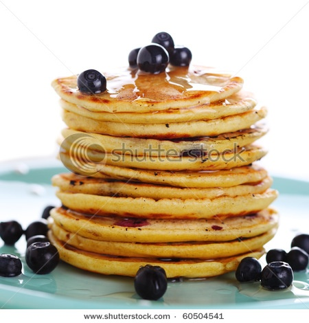 Blueberry pancakes, Pancakes and Stock photos on Pinterest