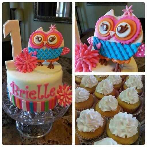 1st Birthday, fondant, owl theme