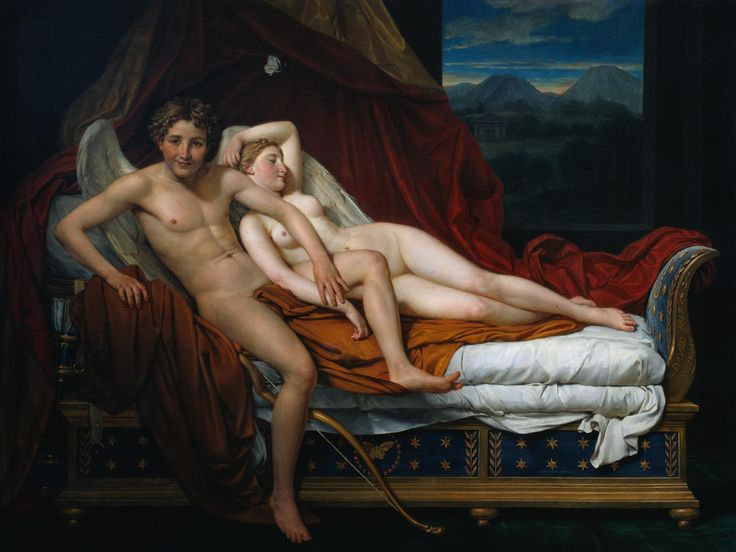 """Jacques-Louis David, """"Cupid and Psyche"""" 1817"""
