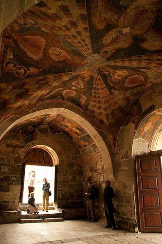 Interior of Sümela,Trabzon, NE Turkey
