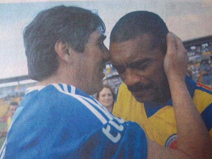 "Oscar ""Pájaro"" Juarez y Arnoldo ""Guajiro"" Iguarán #ídolos #Millonarios"