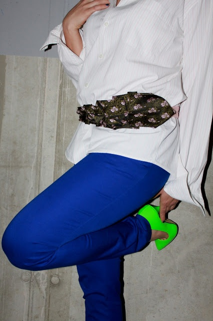 men's shirt Próchnik, trousers H, belt Junky Styling, shoes DeeZee