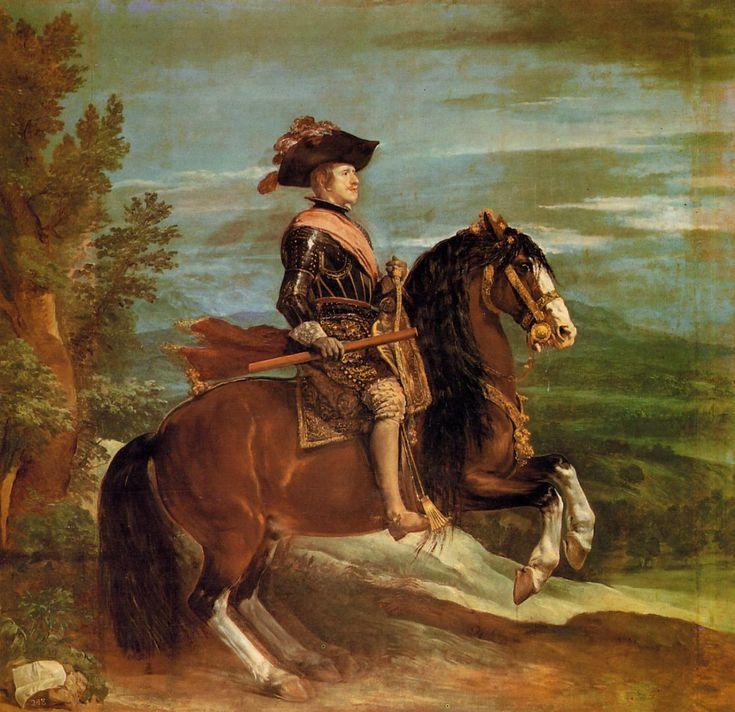 Equestrian Portrait of Philip IV  - Diego Velazquez