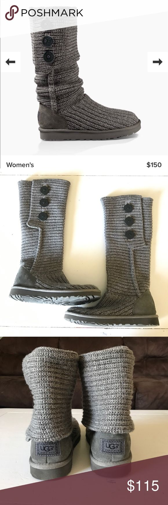 Ugg Classic Cardy Grey. Lightly worn. Size 7. Smoke free home. No trades UGG Shoes Winter & Rain Boots