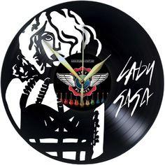 LADY GAGA Vinyl wall clock - Horloge vinyle