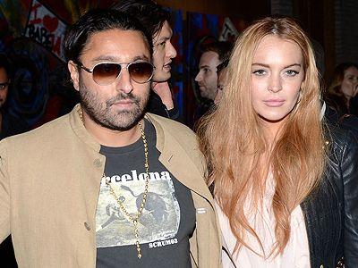 Lindsay Lohan goes shopping with Vikram Chatwal!