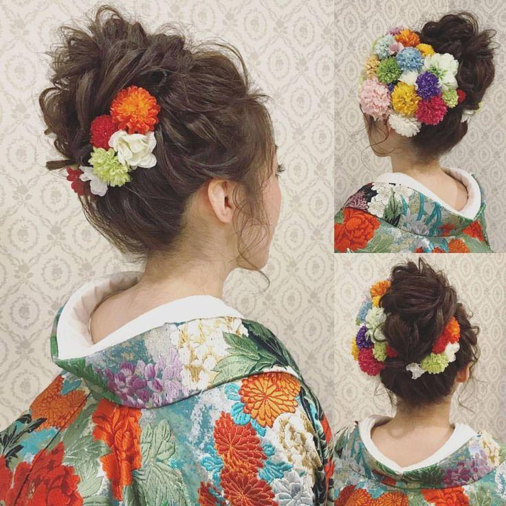 いいね!759件、コメント10件 ― R.Y.K Vanilla Emuさん(@ry01010828)のInstagramアカウント: 「結婚式の前撮り 和装ロケーション撮影のお客様 ゆるめのふわふわおだんごヘア 左側は前の方から小さめのお花を沢山付け、右側は少なめに! #ヘア #ヘアメイク #ヘアアレンジ #結婚式 #結婚式ヘア…」