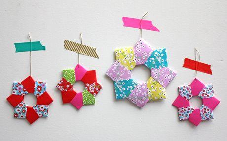 Etoile en origami à faire avec les enfants !