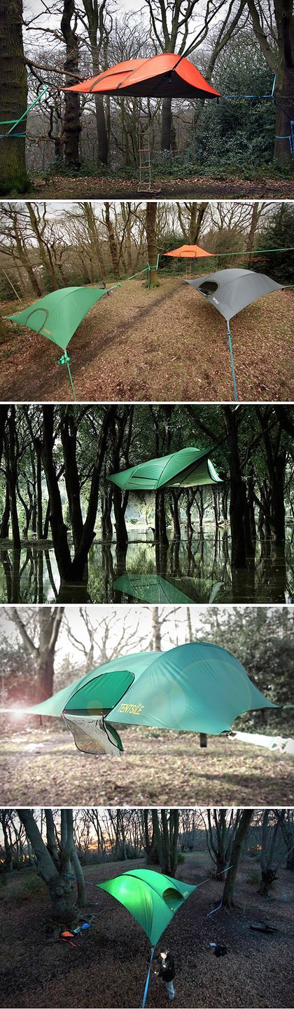 Daggg, Whao aerial tent. I really like it... Tentsile Stingray Tent : Your Portable Tree House. So. Cool.
