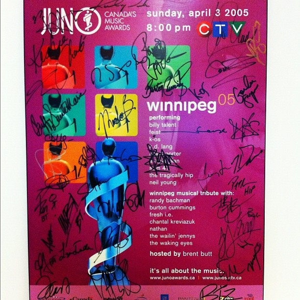 The 2014 JUNO Awards will be held in Winnipeg, MB!