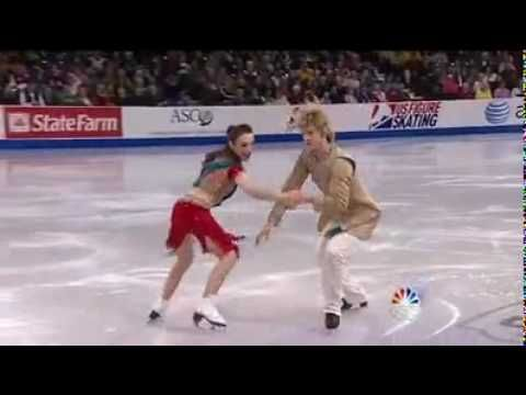 American figure skaters performing Indian style