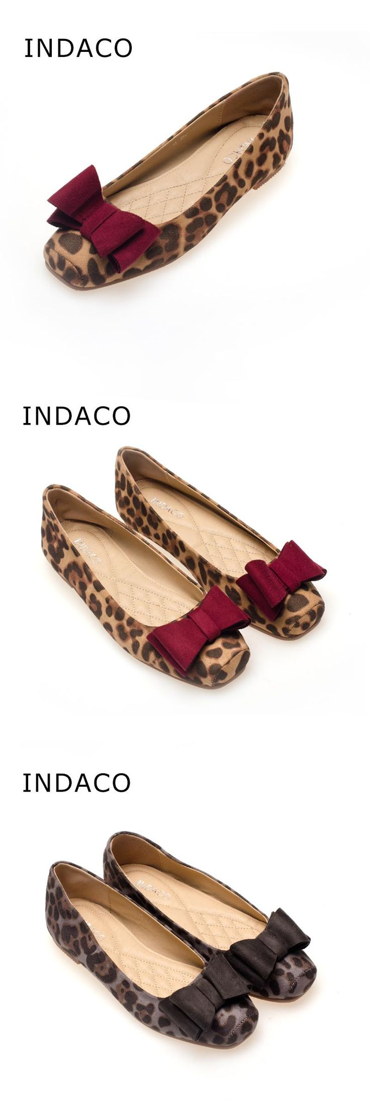 [Visit to Buy] Big Size 41 Leopard Flat Shoes Women Suede Square Head Flat Shoes Spring And Autumn Bow Ballet Flats Women Chaussure Femme #Advertisement