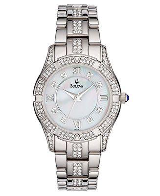 Bulova Watch, Women's Silver-Tone Bracelet Watches - Jewelry & Watches - Macy's - for work?