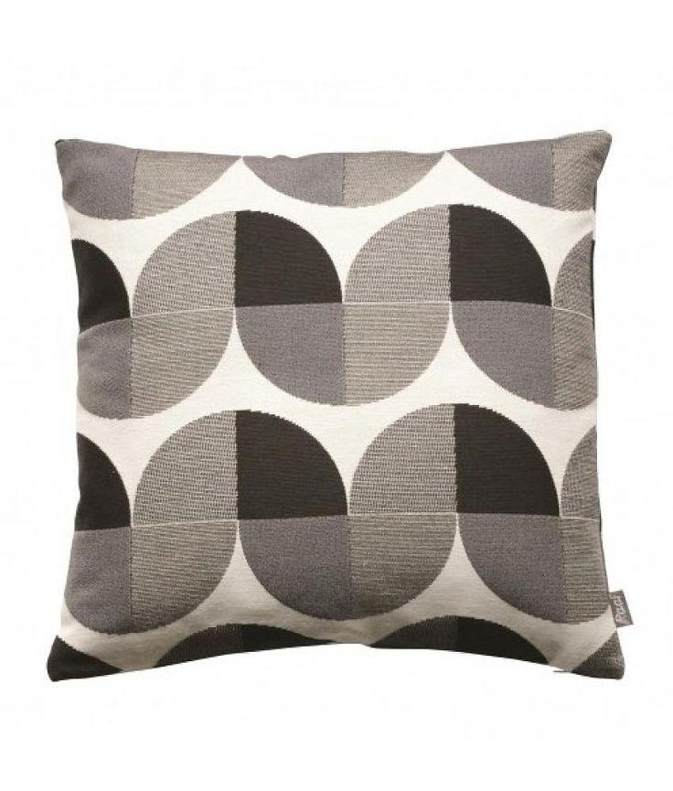 Raaf Sierkussenhoes Sixties zwart-wit 50x50