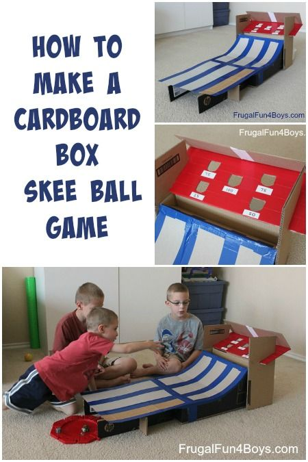 DIY Cardboard Box Skee Ball Game