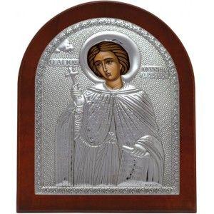 Saint John The Russian Silver 925 Orthodox Icon.