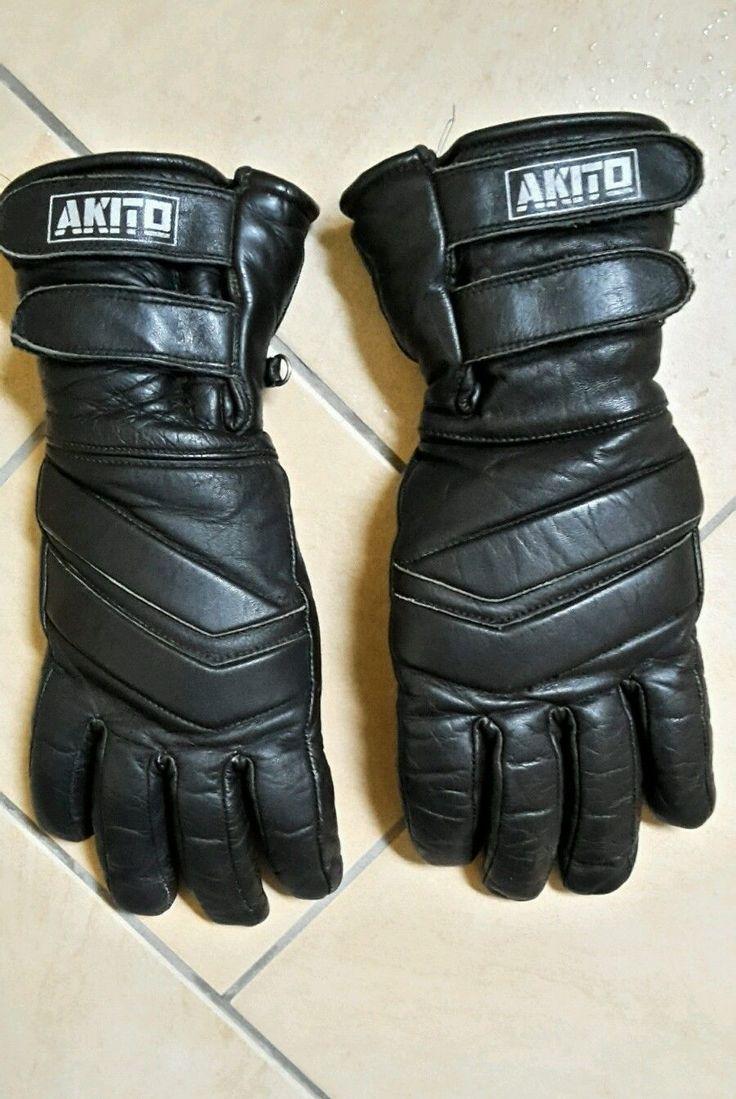 Akito Handschuhe Lederhandschuhe Motorradhandschuhe schwarz Leder Gr. 8,5 top…