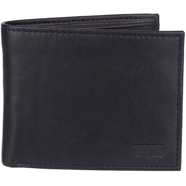 Men's Levi's® Slim Extra Capacity Billfold Wallet ($23) ❤ liked on Polyvore featuring men's fashion, men's bags, men's wallets, black, mens slim wallet, mens vegan wallets, mens wallets and mens billfold